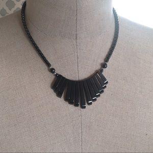 Jewelry - Onyx Piano Key Beaded Necklace